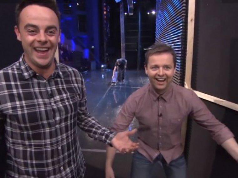 Ant & Dec caught spooning backstage!
