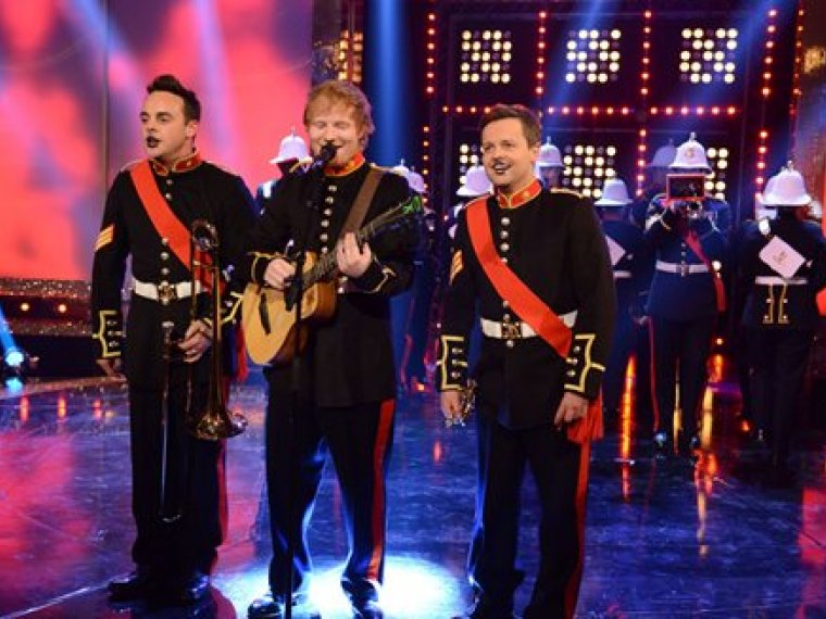 Ed Sheeran, Ant & Dec & the Royal Marines' Unbelievable Performance