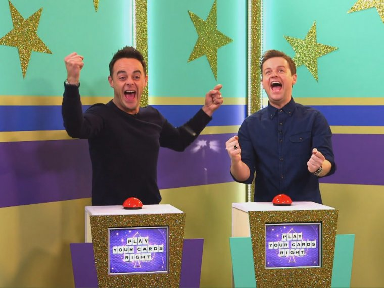 Ant and Dec play their cards right