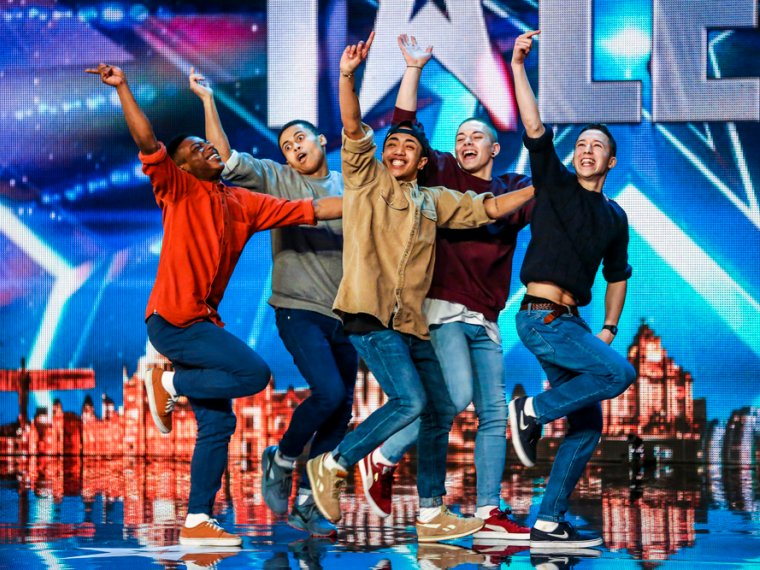 See Ant & Dec's back-flippingly good Golden Buzzer boyband