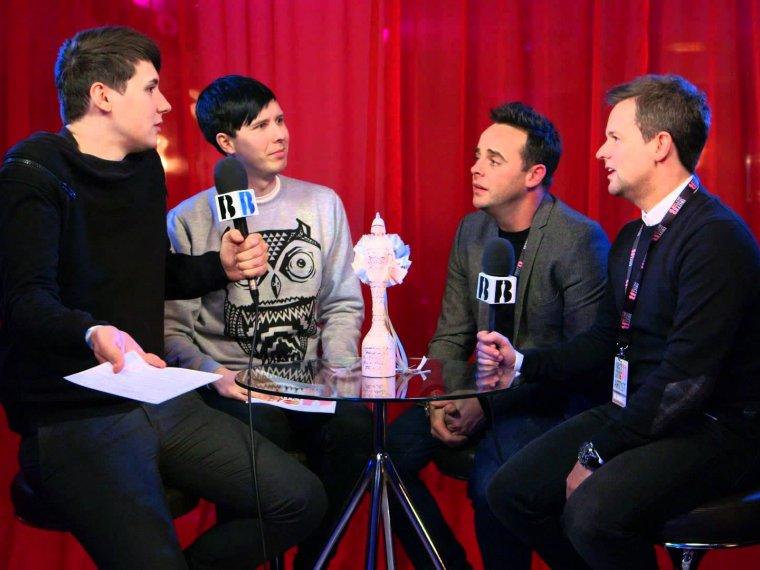 BRIT Awards 2015: Dan & Phil Meet Ant & Dec