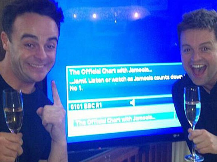 Ant & Dec become the Official UK Number One!